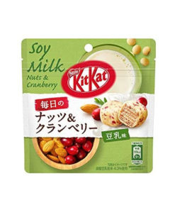 KIT KAT BALLS NUTS AND CRANBERRY SOY MILK